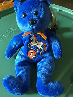Celebrity Bear #40: #7 Bronco's player John Elway, ret'd Feb.2000, 11,000 made