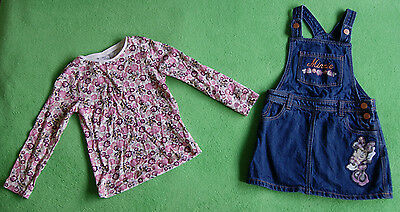Disney jeans denim dress and lond sleeve top for girl age 4-5 years 110cm