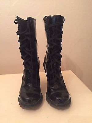 """Office Dr Martin Style High Heel Boots (size 4) """"BLOGGER STYLE"""""""