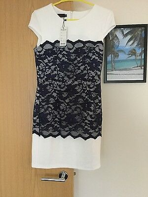Ladies White and blue dress size M BNWT