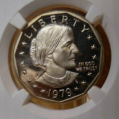 1979 Type 2, Susan B Anthony Proof $1, NGC Certified PF 68 UCAM,  San Fran label