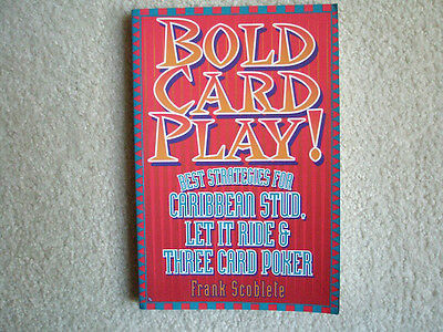 9E.  Bold  Card Play  By Frank  Scoblete..new