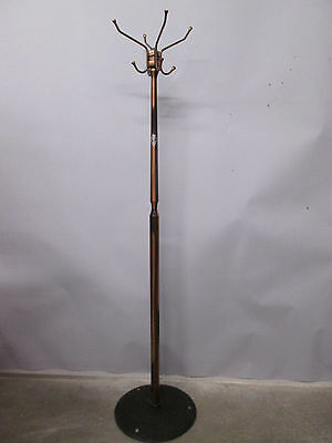 "Vintage Antique Hat Rack Coat Rack Japanned Finish Copper Arrowhead 67""  Tall"