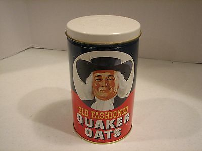 Vintage1982 Limited Edition Old Fashioned Quaker Oats Advertising Tin-Excellent