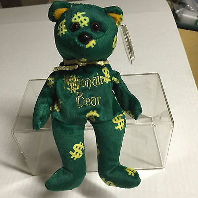 """Celebrity Bear #65 depicting the show """"Who wants to be a MILLIONAIRE"""""""