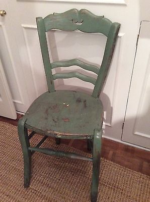Pretty French Antique wooden painted chair rustic chic