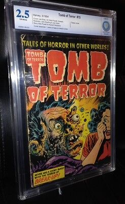 Tomb of Terror #15 (1954) CBCS 2.5G+ Classic face exploding cover! Scarce