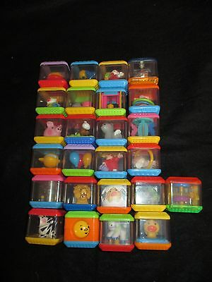 Lot of 23 Peek A Blocks Fisher Price Baby Infant Sensory Toy