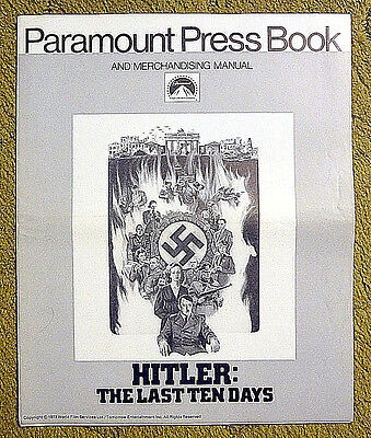"1973 pressbook -- ""HITLER: the LAST TEN DAYS"" / AND what happened to EVA BRAUN?"