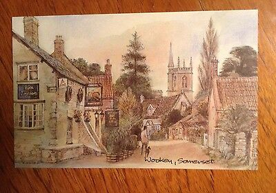 1 Postcard of Wookey(Somerset) from the original watercolour by David Skipp