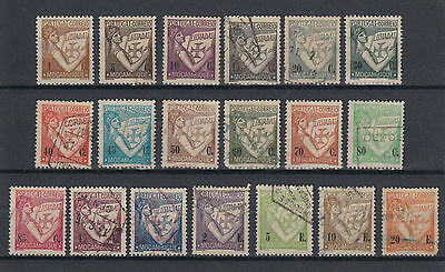 Mozambique 1938 Short Set Used Hinged No Gum (#1515)