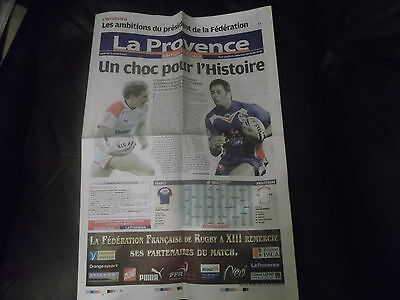Rare France V England Rugby League Newspaper Programme 21St October 2011