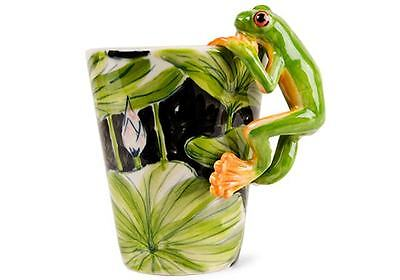 Blue Witch 3D Mug -Frog,Hand Paint Ceramic Coffee Mug