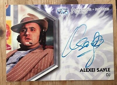 Alexei Sayle Doctor Who Signed Card