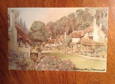 1 Postcard of Selworthy(Somerset) from the original watercolour by David Skipp