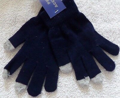 Blue Touch Screen Gloves One Size -Free Postage