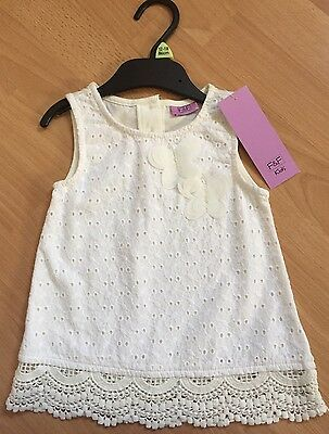 NEW With Tags Girls White Top 12-18months