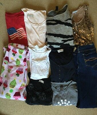 Pre owned Used Mixed Women Clothes Lot Size Small Pant Shirts Abercrombie Etc