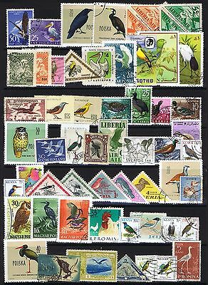 Thematics Birds 55 stamps - Used & MH (CTO)
