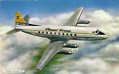 Channel Airways - Vickers Viscount - Airline Issue Postcard