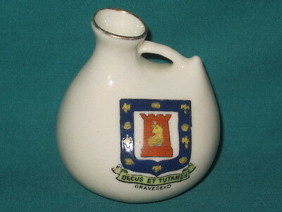 Florentine China Hastings Kettle - GRAVESEND crest