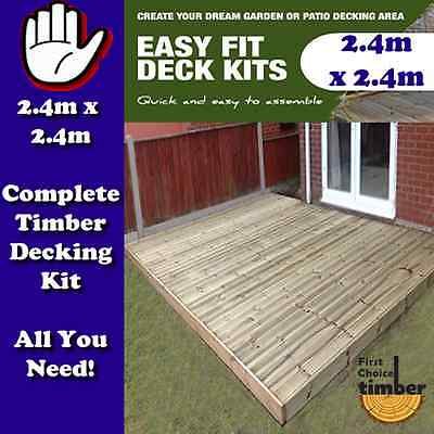 garden decking timber decking complete 2.4m x 2.4m kit everything you need