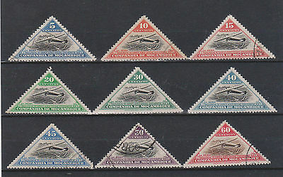 Mozambique Company 1935 Air Short Set Mint & Used Hinged SG261-269 (#1069)