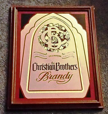 Vintage 1988 The Christian Brothers Brandy Mirror Sign