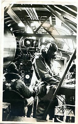 Handley Page Harrow - Interior View - Old Real Photo Postcard