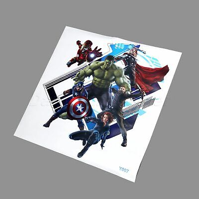 The Avengers Captain America 3D View Wall Stickers Super Hero Decals Wallpaper