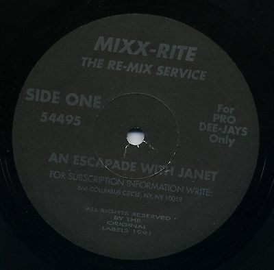 The Re-Mix Service - An Escapade With Janet - Mixx-Rite