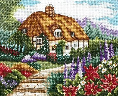 Anchor - Counted Cross Stitch Kit - Cottage Garden In Bloom - PCE593