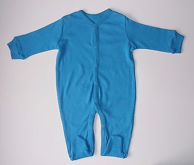 Baby's Sleepsuit 100% cotton blue 6-9 months all-in-one playsuit boy girl new