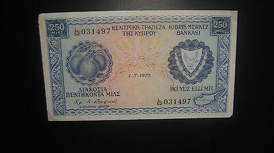 Cyprus  Government Of Cyprus 250 Mils  *1975* L52 031497
