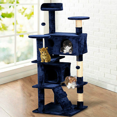 """52"""" Cat Scratching Tree Furniture Tower for Cats Pets Kittens"""