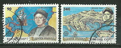 Greece 1992 '' Europa Cept - Colombus The Discovery Of America ''  Set  Used