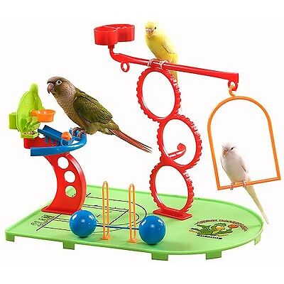 Birdie Basketball & Gym Playground With Treat Dispenser For Small Parrots