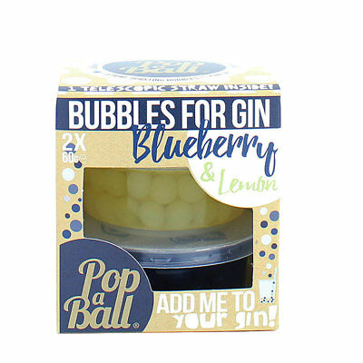 Blueberry and Lemon PopaBall Bubbles for Gin, Mocktails, Cordial or Soda