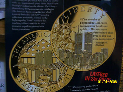 American Spirit Remembering 9/11 Liberty Coin By American Mint Proof