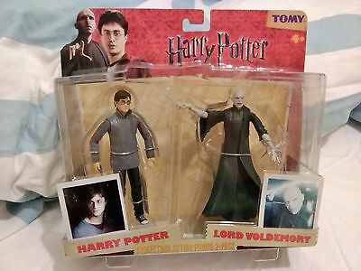 Harry Potter Tomy Collectors Action Figure 2 pack Voldemort + Harry With Wands