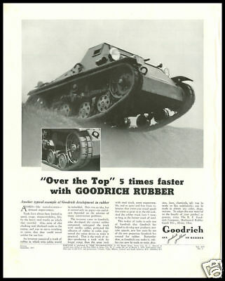 1937 vintage ad for Goodrich Rubber