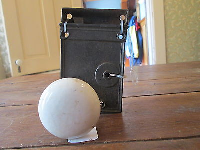 Vintage--White Door Knobs--With Hardware--Free Shipping--#1