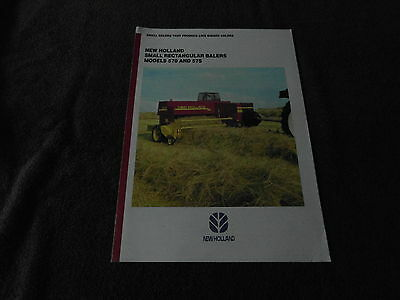 Ford New Holland 570 575  baler brochure tractor