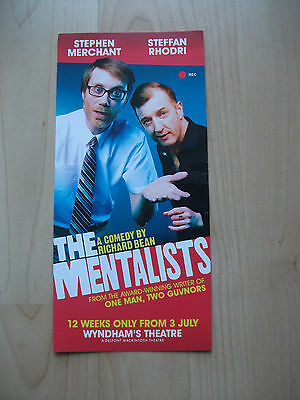 **The Mentalists Flyer at Wyndham's Theatre London Great Condition**