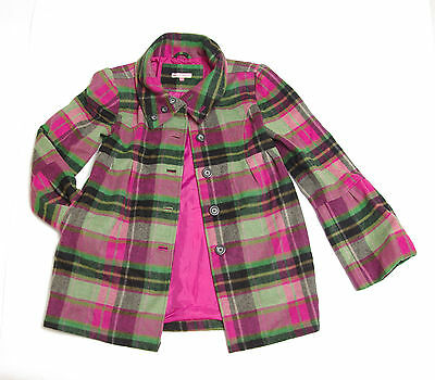 P697/23 John Lewis Warm Wool Blend Winter Checked Coat, age 12 152 cm/78 cm