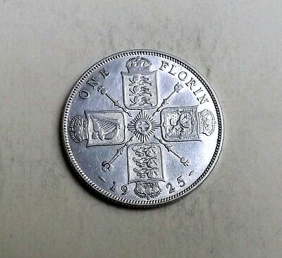 George V 1925 Two-Shilling-Florin[Key Date] Very Nice Condition Nice Rare Coin