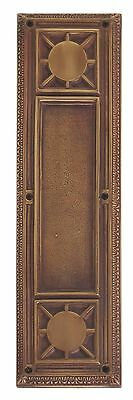 Renaissance Aged Brass Door Push Plates  3-3/4 in. X 13-7/8 in.  A04-P7200-486