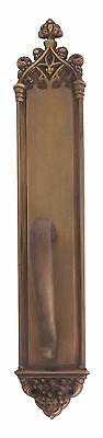 Renaissance Aged Brass Door Pull on Plate  3-3/8 in. X 23-3/4 in.  A04-P5641-486