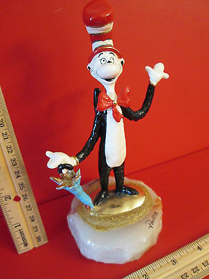 1998 Signed Ron Lee Dr Seuss Cat in the Hat 483/950 Figurine Bronze Statue Art