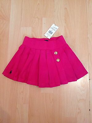 Polo Ralph Lauren Girl's Pink Pleated Skirt With Inbuilt Knickers 4 Years BNWT
